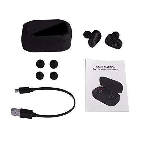 Noradtjcca Mini True Wireless Sport-Ohrhörer HiFi In-Ear-Stereo-Ohrhörer Walking Jogging Ohrhörer für Telefon Tablet-Computer