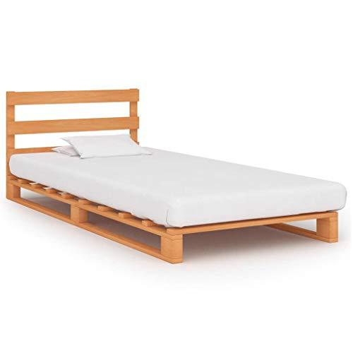 Rollrost Holzbett 90x200 cm inkl Bis 300kg Vollholz Einzelbett Bettgestell