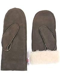 Lammfell Handschuhe Fäustlinge aus Australischen Premium Lammfell, schwarz - braun - grau Damen Größenbeschreibung siehe Produktbeschreibung