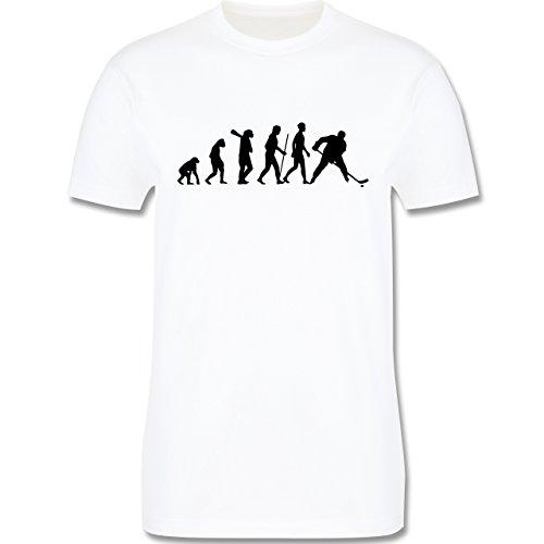 Evolution - Eishockey Evolution - Herren Premium T-Shirt Weiß