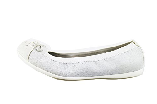 NERO GIARDINI ballerine bambina beige pelle camoscio (39 EU, Bianco)