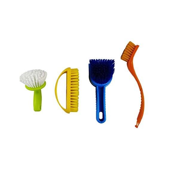 Esquire Home Cleaning Brush Set of 04 Multi Purpose - Sink Brush, Tile Brush, Dish/Plate Washing Brush & Clothe Washing Brush