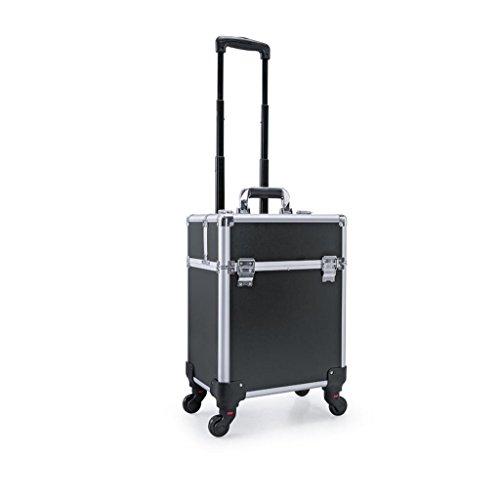 Makeup Trolley Case, 2 in 1 rollenden Make-up Reisetasche, Beauty-Make-up Tasche, kosmetische...