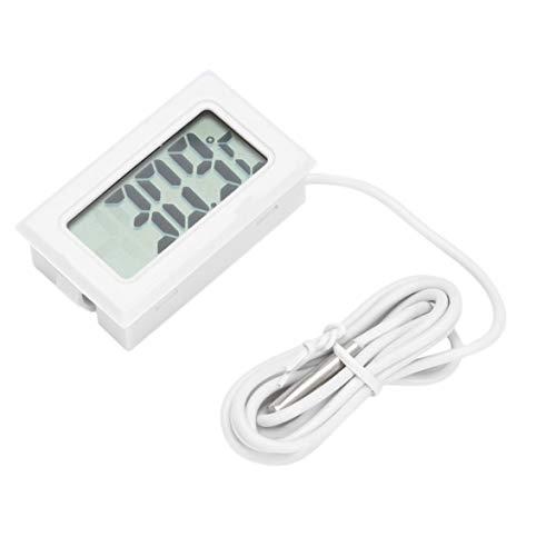 Kongqiabona Mini Tragbare ConvenientLCD Kühlschrank Gefrierschrank Kühlschrank Digital Thermometer Luftfeuchtigkeit Meter Temperatur-50~110 ° c Weiß -