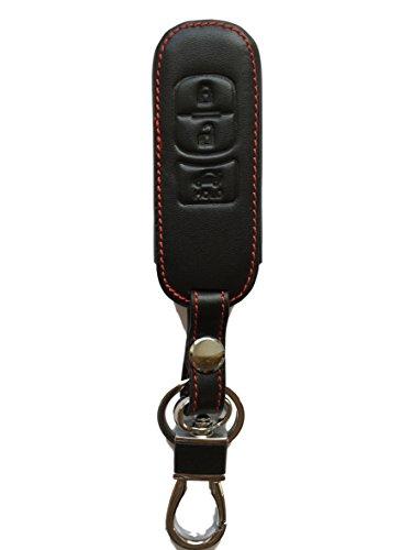 MAINT-Lederetuis Schlüsseltasche Hülle Etui Leder – Schutz & Schlüsselanhänger Ersatz - Schlüssel Cover – für MX5 ab 2016 2 3 5 6 MPS CX-3 CX-7 RX-8 BT50 CX-5 CX-9
