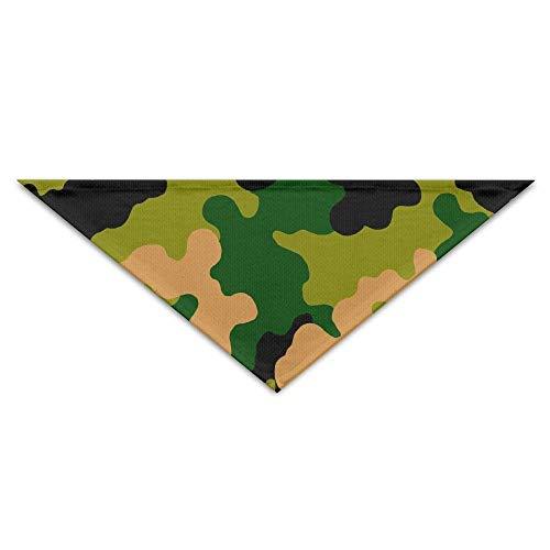 deyhfef Green Orange Camo Pattern Pet Dog Cat Puppy Bandana Triangle Head Scarfs ()
