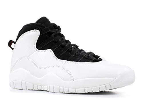 Nike Herren Air Jordan 10 Retro Weiß Leder/Synthetik/Textil Sneaker 43 (Air Jordan 10)