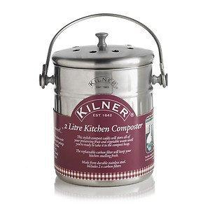 *Kilner Komposteimer für die Küche, 2l, silberfarben*