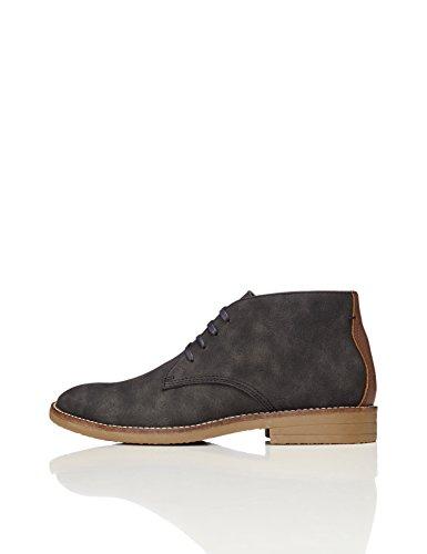 FIND Herren Heavy Rand Chukka Boots, Grau (Charcoal), 42 EU