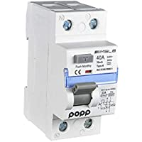 POPP® Electric Interruptor diferencial industrial TIPO AC 40A 30mA 1P+N … (1)
