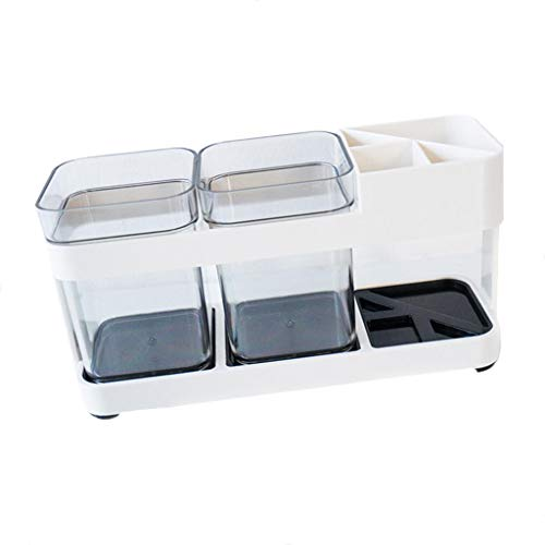 F Fityle Zahnbürste Regal Zahnpastahalter Badezimmer Behälter aus Kunststoff (Badezimmer Standwaschbecken)