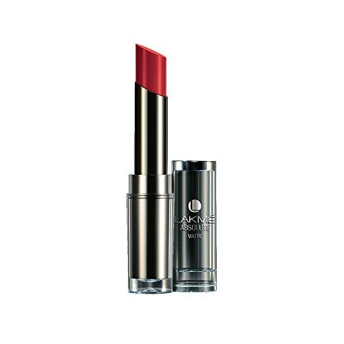 Lakme Absolute Matte Lipstick, Burgundy Affair, 3.7 g