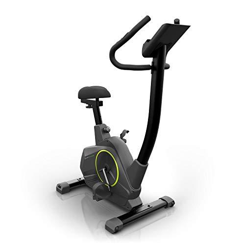 Klarfit Epsylon Cycle • Cyclette • Ergometro • Cardiofrequenzimetro • Volano da 12 kg • Trasmissione a Cinghia • Regolabile in Altezza • Allenamento di Resistenza • Porta Tablet • Max 120 kg • Nero