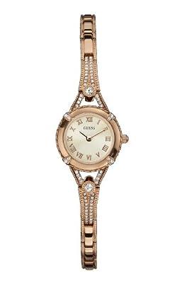 Guess - Reloj de cuarzo para mujer, con correa de acero inoxidable, color dorado