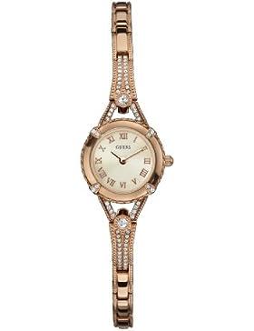 Guess Damen-Armbanduhr Analog Quarz Edelstahl W0135L3