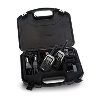 AEG VOXTEL R320 PMR-Funkgeräte inkl. Transportbox, Headset und Kfz-Ladegerät (10km Reichweite, VOX-Funktion, 500 mWatt)