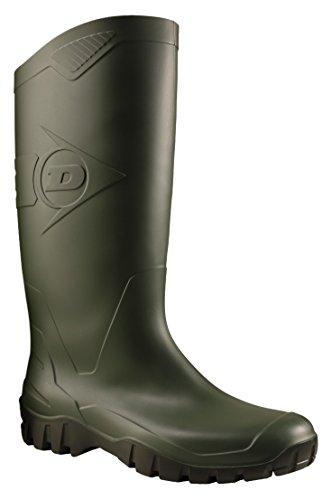 Dunlop K680011 PVC KNIELAARS Unisex-Erwachsene Halbschaft Gummistiefel, Grün (Grün 08), 41 EU/7 UK/8 US (Winter Stiefel Größe 7 Frauen)