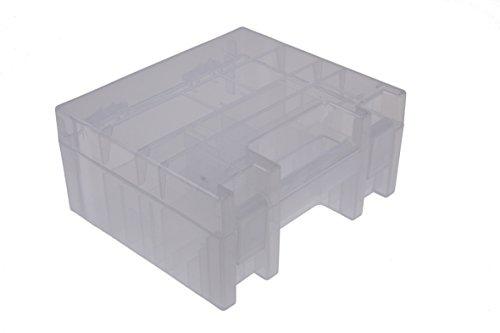 ANSMANN Premium Akkubox für 35x AAA, AA, Baby C, Mono D und E-Block Akkus oder Batterien Transportbox Schutz Case