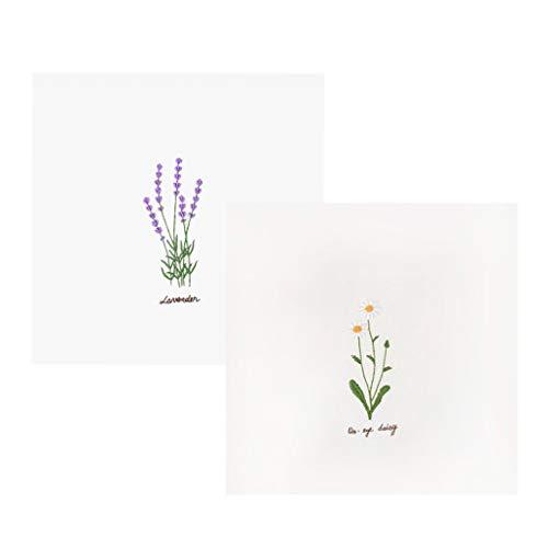 IPOTCH 2 Sätze Stickpackung Lavendel Blumen, Komplettes Tischläufer Set, Stickpackung Für Erwachsene, Kreuzstich, Viel Spaß Mit Ihrer Handgemachten Stickerei -