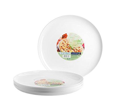 Luminarc, Serie Friends Time, Pizzateller 32 cm, im 6er-Set