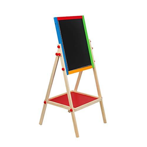 Massivholz Staffelei Liftable Doppelseitige Malerei Stand Verstellbare Höhe Kid's Easel Stativ Zeichnung Halter (Kreide Board Stativ)