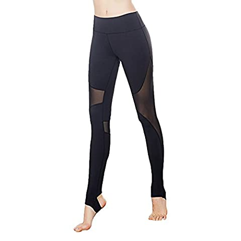 Vansydical 2017 Collants à bascule à compression féminine Mesh Patchwork Leggings de yoga Running Fitness Workout Pantalon à séchage rapide (FBF71501,