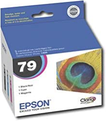 Epson T079920-S Claria High Cap Color MultiPack for Stylus Photo R1400 Ink