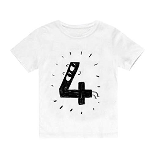 Sanahy Kurzarm Baby Unisex Kinder T-Shirt Kinder Nummer 12345 Bedruckte Kinder Kurzarm Sweatshirts Drucken Brief -