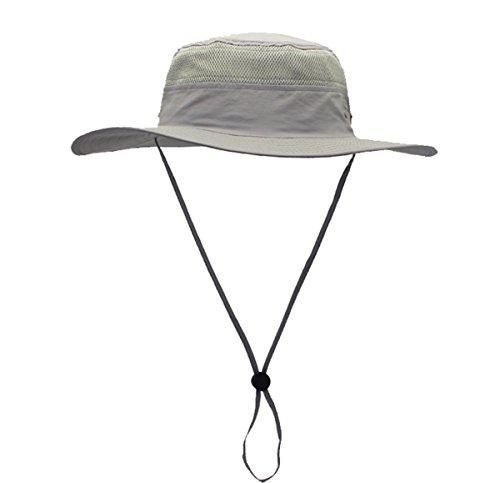 gg st Sonnenhut Herren Damen UPF 50+ Outdoor UV Schutz Mesh Summer Hut Hiking Fischerhut Strand Faltbar Safari Buschhüte Cap -