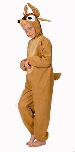 Magicoo Hirsch Kostüm für Kinder - komplettes Hirschkostüm Kinder - Jungen und Mädchen (140) (Kinder Für Hirsch Kostüm)