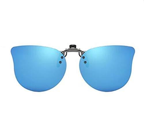KOMNY Kinder Sonnenbrille Clips Licht polarisierte Sonnenbrille Männer und Frauen Kinder Myopie Clip-Typ UV-Visier Gläser, A