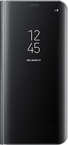 Meimeiwu Clear View Flip Custodia Cover con Funzione Kickstand [Sleep/Wake Funzione] Ultra-Sottile Specchio Traslucido Smart Cover per iPhone 6 6S - Oro Nero