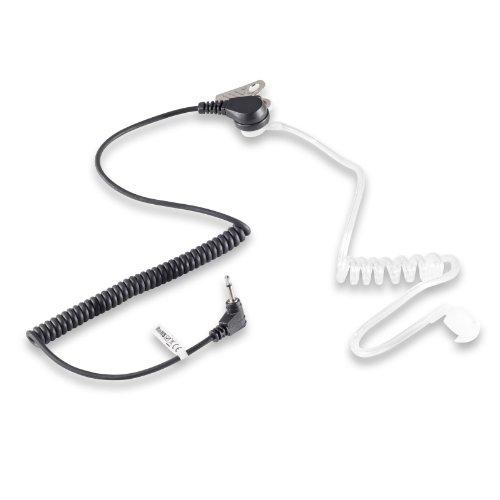 Kostüm Bodyguard - Ohrhörer Schallschlauch 2,5 mm (NICHT 3,5mm!) transparent inkl. Halteclip Kopfhörer Security Headset für Funkgeräte