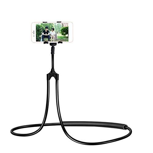 CRSM Flexible Handyhalterung Hängenden Hals Faul Halskette Halterung Bett 360-Grad-Smartphone-Halter Für iPhone Hirse Huawei Schwarz