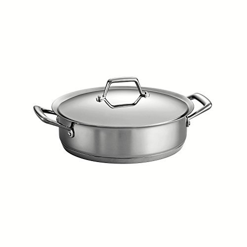 Tramontina Prima 5 Quart 18/10 Stainless Steel Tri-Ply Base Covered Casserole by Tramontina Tramontina Tri-ply