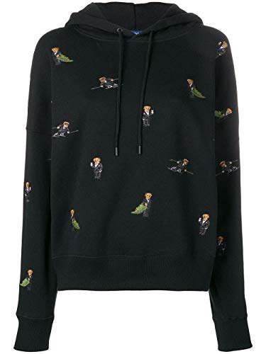 Ralph Lauren Damen 211722220001 SChwarz Baumwolle Sweatshirt