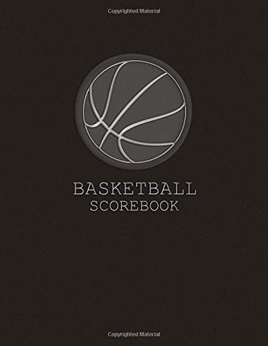 Basketball Scorebook: Gray, Sleek, Matte, 8.5