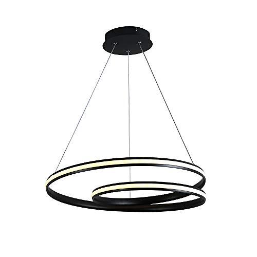 Aione Moderne runde LED 60 w Kronleuchter verstellbare Hängeleuchte Kollektion Zeitgenössische Deckenpendelleuchte,remotecontroldimming,A -