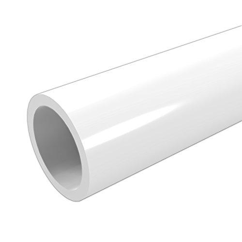 formufit p001fgp-wh-5Schedule 40PVC-Rohr, Möbel Klasse, 5', 2,5cm Größe, weiß (40 Schedule Pvc-rohr)