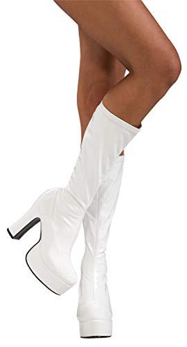 Rubie's Offizielles sexy Kniehohe Stiefel, Erwachsenen-Kostüm für 8 - 9Jahrein Weiß, Größe L