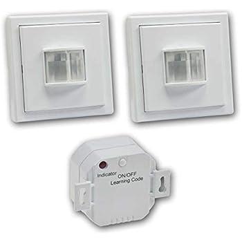 Funk-Bewegungsmelder PIR-1000 Zutritt-Melder Sensor-Schalter indoor Intertechno