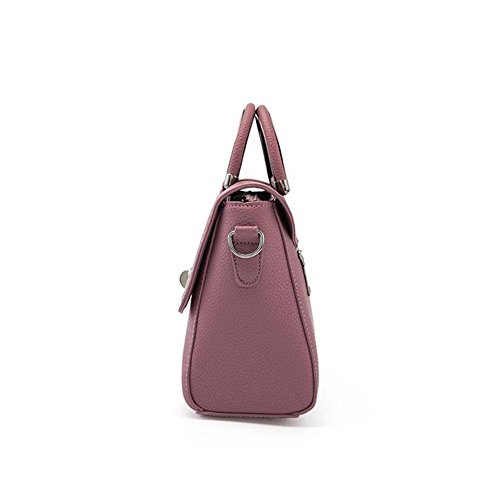 Emotionlin Moda Donne Di Pelle Di Lucchetto Tote Borsa Signore Borsa (Deep Red) Blue