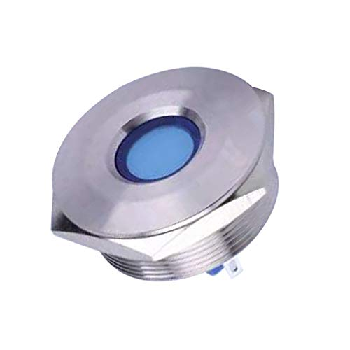 Sharplace 28/30mm 12v Bleu LED Ip67 Indicateur De Signal De Tableau De Bord en Métal - 28mm ib28b-fj-d