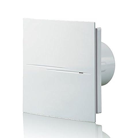 blauberg UK Style 100Silencieux 100mm Standard Ventilateur d'extraction d'air–Blanc (Whisper Air)