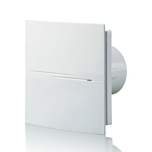 blauberg UK Style 100Silencieux 100mm Standard Ventilateur d'extraction d'air-Blanc brillant