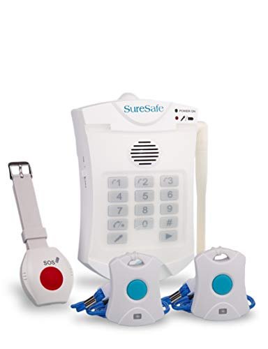 Price comparison product image SureSafe Personal Alarms 1 x Wristwatch & 1 x Pendant + 1 FREE SPARE PENDANT OAP Fall Care Alert Combo - Medical Alarm / Alert for Seniors / Elderly. Old Person Pendant SOS Device for Independent Living. 12 Month Warranty from an International Emergency Alarms Device Company.