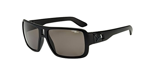 CEBE LOOK AT ME! SUNGLASSES (1500 GREY POLARIZED LENS ALL BLACK FRAME)