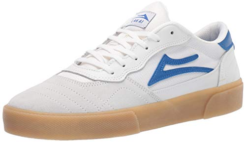 Lakai Cambridge Schuh-White Blue Suede - 44 -