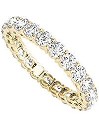 Cubic Zirconia Full Eternity Ring in 14K Yellow Gold