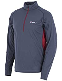 Berghaus Men's Long Sleeve Zip Neck Tech T-Shirt